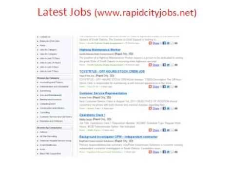 Craigslist rapid city sd jobs