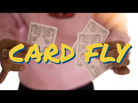 CARD FLY (advanced card trick tutorial)