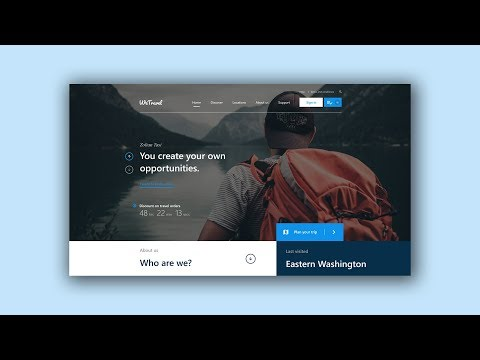 Web Design Speed Art #5 – Travel website [Adobe XD]