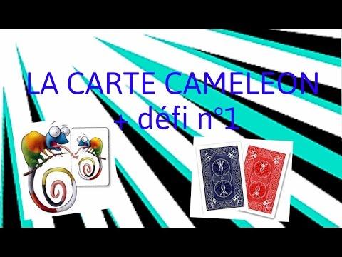 tour de magie carte cameleon