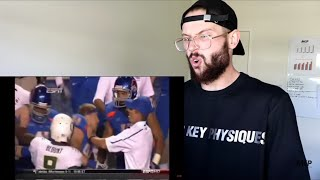 Rugby Player Reacts to College Football's Most RUTHLESS Punch!