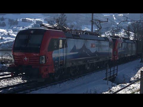 [FR/DE] Trafic ferroviaire/Bahnverkehr Gotthard Steinen - 13.02.2018 - Transports Publics Suisses
