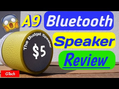 A9 Mini Bluetooth Speaker Review - The BEST $5 Speaker