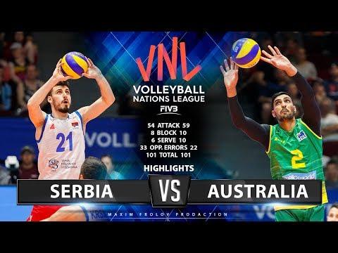 Serbia Vs Australia | Highlights Men's VNL 2019