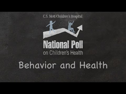Mott Poll: Many parents are missing the link between children's behavior and health