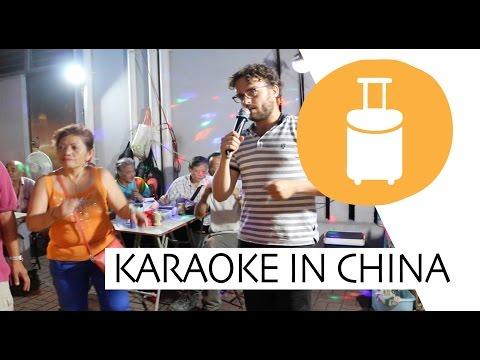 China: Outdoor karaoke party (KTV)