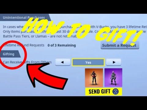 *HOW TO* GIFT SKINS AND VBUCKS! New GIFTING SYSTEM In Fortnite Battle Royale! V4.5