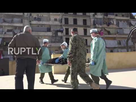 Syria: Russian doctors treat Aleppo's residents as 'humanitarian disaster' continues