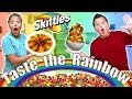 Candy Art Challenge With Skittles! Funny Food CHALLENGE Experiment!