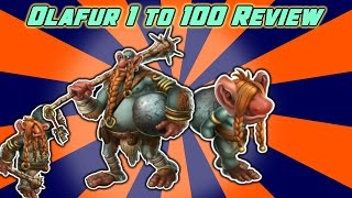 Monster Legends - Olafur Level 1 to 100 Review + Combat