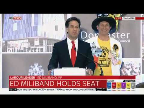 Ed Miliband Re-Elected In Doncaster North