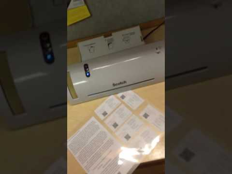 Scotch Thermal Laminator Tutorial and Review