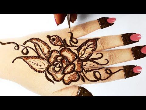 ईद/ राखी स्पेशल मेहँदी २०१९ - बहुत सरल फ्लावर मेहँदी डिज़ाइन ट्रिक लगाना सीखे,Eid Special Mehndi 2019