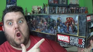 Marvel Studios First Ten Years Mega Figurine Set Disney Store Exclusive Figure Unboxing Toy Review
