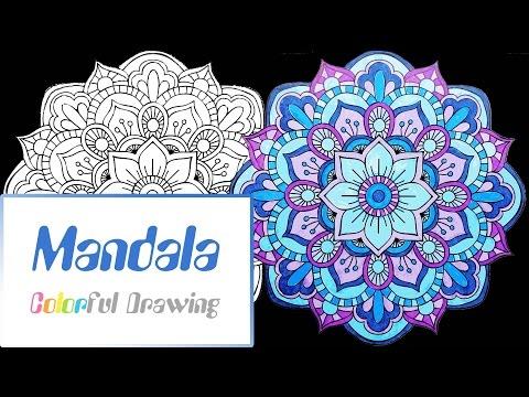 speed-coloring---coloriage-mandala-n°4-!