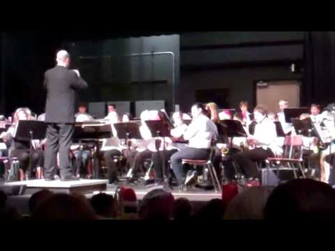 Lumpkin County Middle School 7th Grade band performance. Christmas 2011