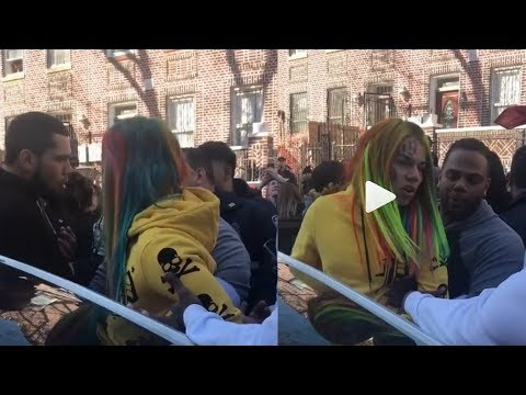 Police almost arrest 6ix9ine at his own video shoot after he brought out 1000 to be in 'BILLY' video