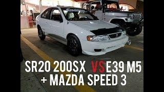 SR20 Swapped 200SX vs E39 M5 vs Mazda Speed 3