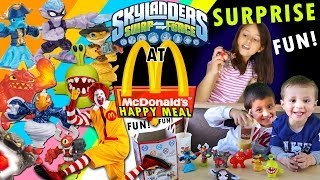 Skylanders @ McDonalds! Swap Force Happy Meal Toy Surprise Fun!