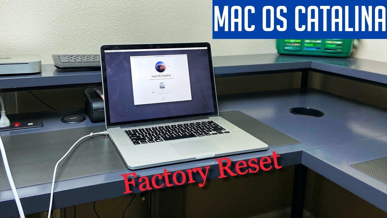 Mac Os Catalina Reset Restore To Factory Settings Mac 2020 Youtube