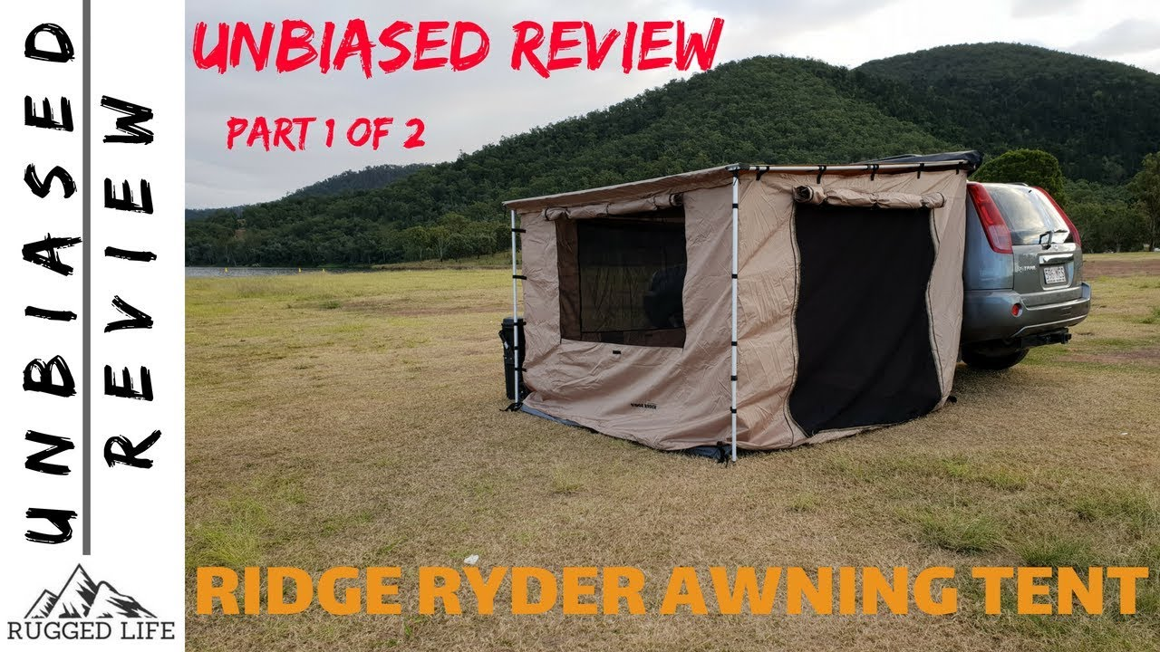 4Wd Awning Tent ridge ryder awning tent part 1 of 2 - unbiased review