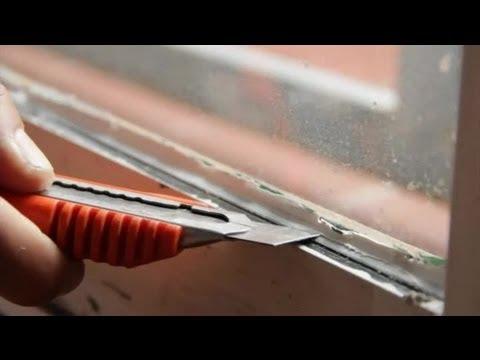Cómo quitar masilla de silicona : Aprende a reparar tu hogar - YouTube