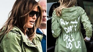 "Melania Trump Admits Her ""I Really Don't Care"" Jacket Was Sending A Message"
