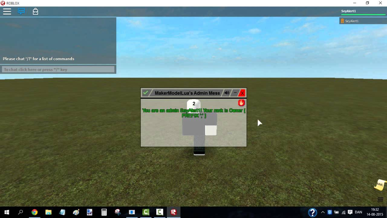 Roblox How To Use And Add Makermodellua S Admin To Your Place
