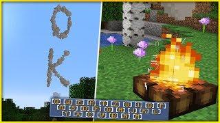 Commandblock CAMPFIRE TYPEWRITER in Minecraft 1.14