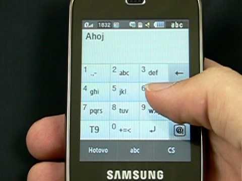 Samsung B5722 DuoS - kontakt a zprávy