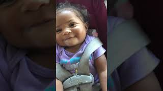Cute baby talking and laughing