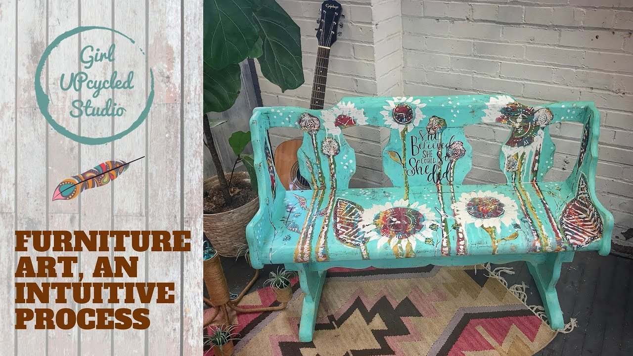 Charmant Furniture Painting U0026 Intuitive Art (part 2) Abstract, Boho Style Free Spirit