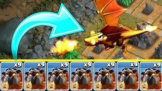 1 TROOP ARMY vs DRAGON KING!! SHOCKING DEFEAT! - Clash Of Clans