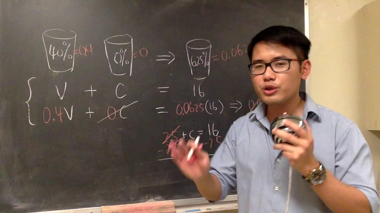 Understand algebra mixture word problems with alcohol YouTube – Mixture Word Problems Worksheet