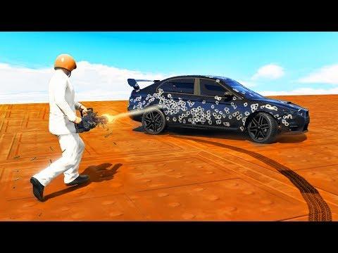 MINIGUNS vs ARMOURED CARS! (GTA 5 Minigames)