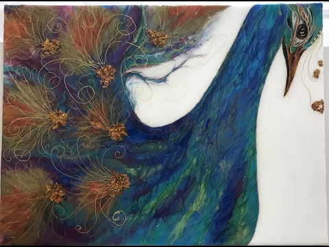 32 - Layer 3 Peacock - Liquid Gold, Resin art & Acrylic art Melody