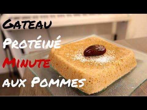 gateau-protéine-minute-aux-pommes