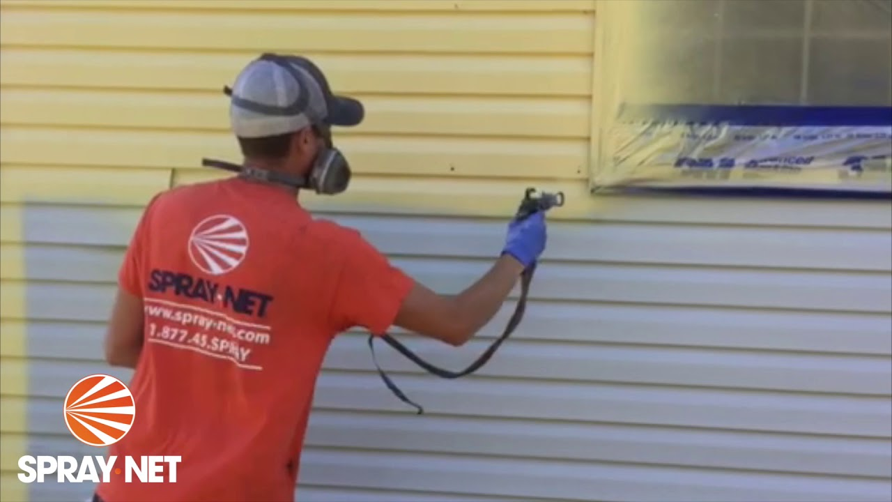 Spray-Net: Did you know you could paint your vinyl siding?
