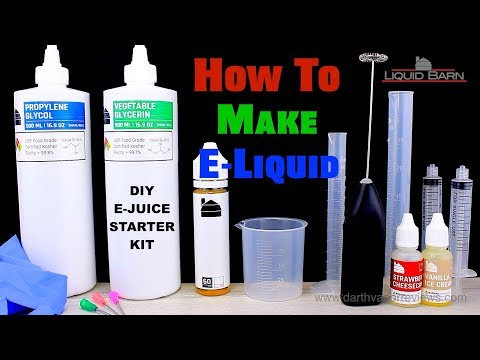 Liquid Barn   How To Make E-Liquid   DIY Ejuice Starter Kit   Tutorial