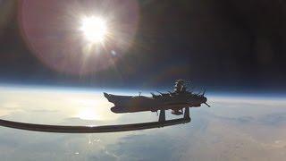 3D Video of Star Blazers Argo (Space Battleship Yamato) from High Altitude Weather Balloon