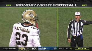 Marshon Lattimore's 2nd personal foul on D.K. Metcalf