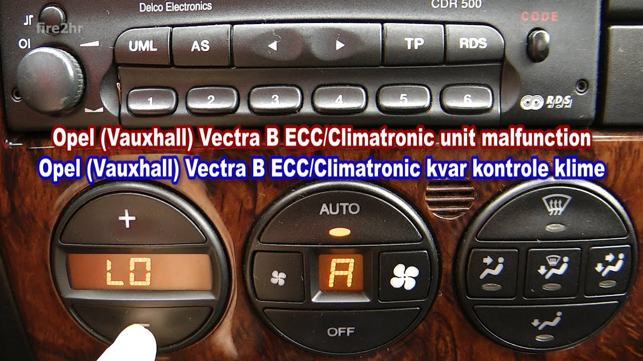 Vectra B Climate Control Wiring Diagram Everything About Rj45 Opel Vauxhall Ecc Climatronic Unit Malfunction Youtube Rh Com Ethernet Cable Guide Connector