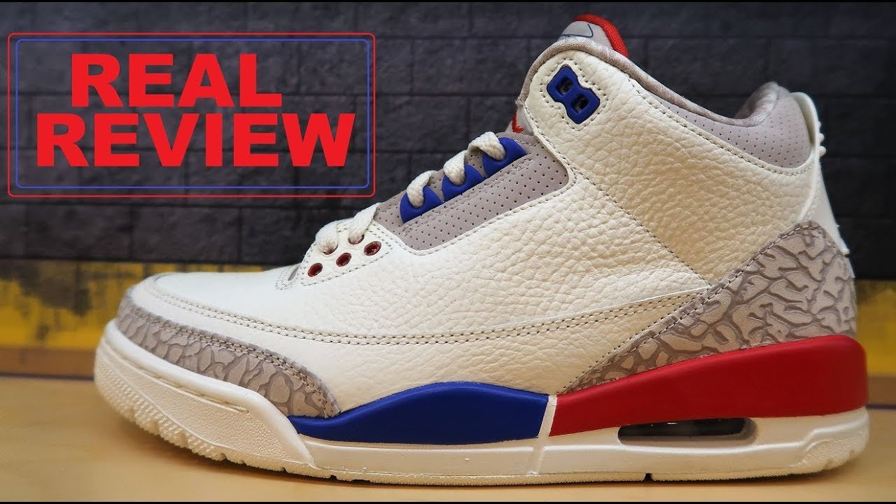 AIR JORDAN 3 INTERNATIONAL FLIGHT RETRO 54 PT CHARITY GAME SHOE HONEST REAL REVIEW BY DJ DELZ