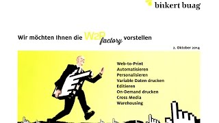 Binkert Buag AG präsentiert W2Pfactory