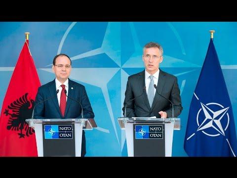 NATO Secretary General with the President of Albania, 28 APR 2016