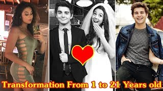 Kira Kosarin and Jack Griffo transformation from 1 to 21 years old