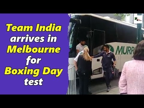Watch: Kohli and his team arrives in Melbourne for Boxing Da