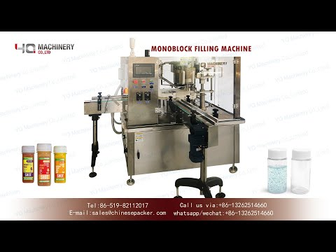 Mono Block Filling Machine For 2oz Plastic Bottles rotary Bottle Filler And Cap Tightener
