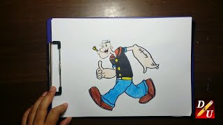 How To Draw POPEYE Cara Menggambar POPEYE  كيف ترسم صورة