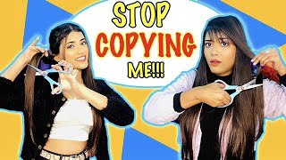 Copying My *SISTER* For 24 HOURS Challenge Ft. Samreen Ali | Mahjabeen Ali